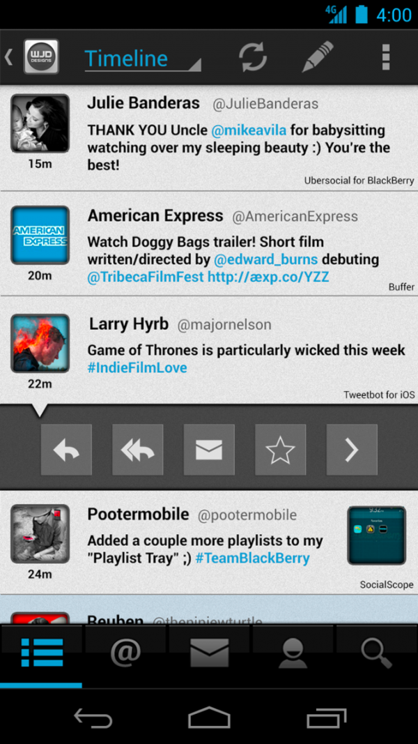 Android Twitter Client Concept (2012)